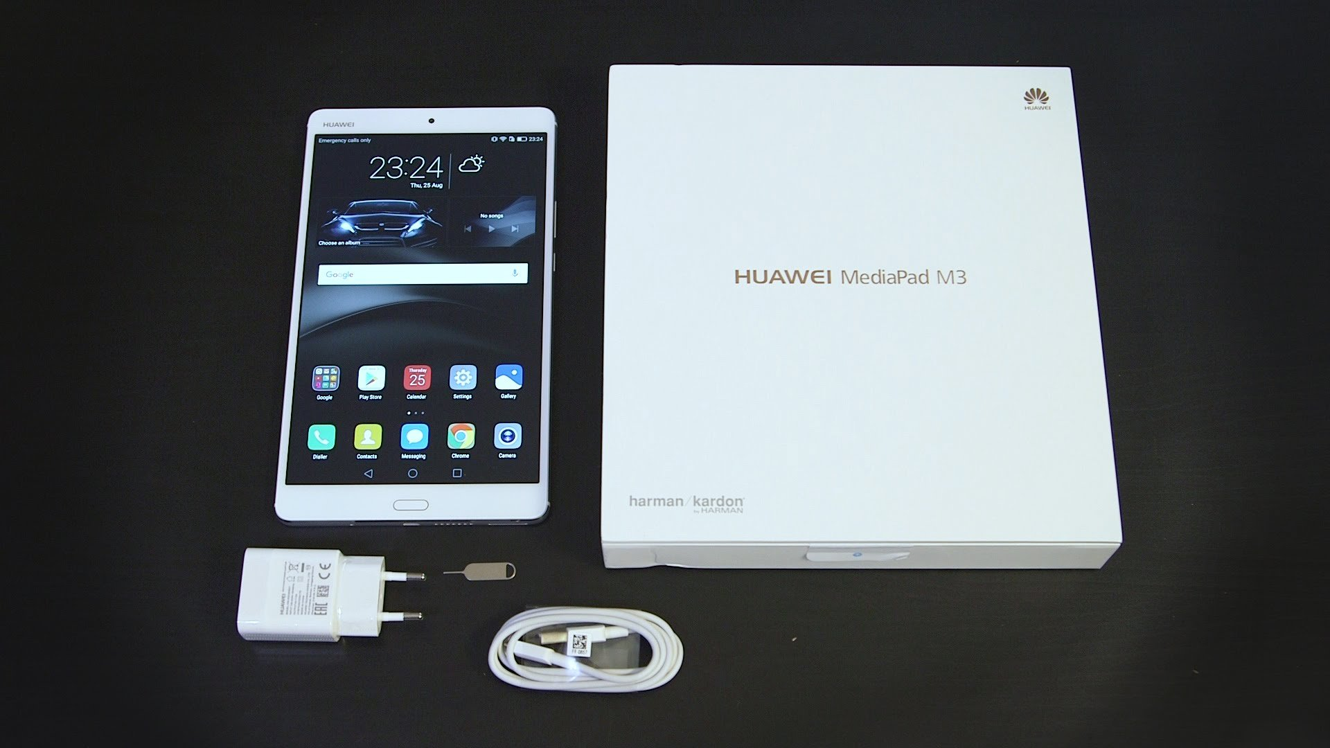 Il kit completo del tablet Huawei Mediapad M3