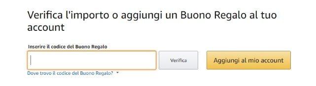 Buono Regalo Amazon Codice Promozionale
