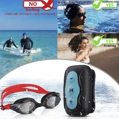 Auricolari bluetooth mp AGPTEK S33B subacquei sport IMG 7