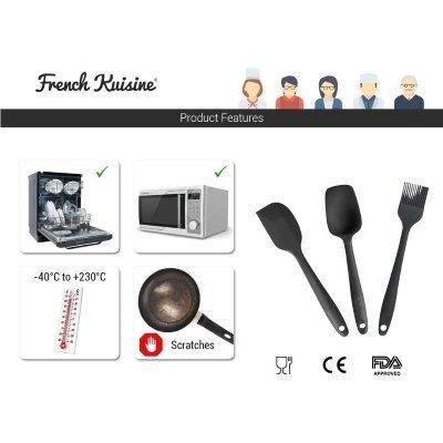 acessori barbecue Set di 3 pezzi French Kuisine spatola cucchiaio e pennello in Silicone 5 IMG 2