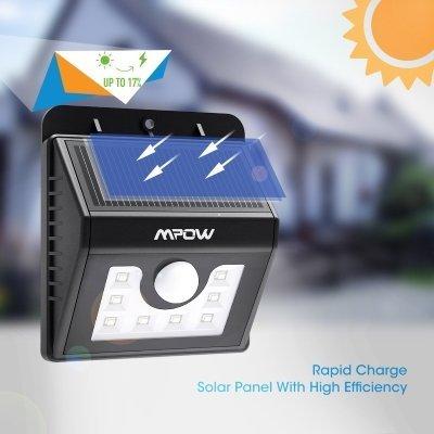faro da esterno mpow solar