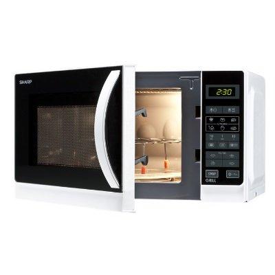 forno a microonde Sharp 642ww interno illuminato e accessorio griglia alta in dotazione IMG 3