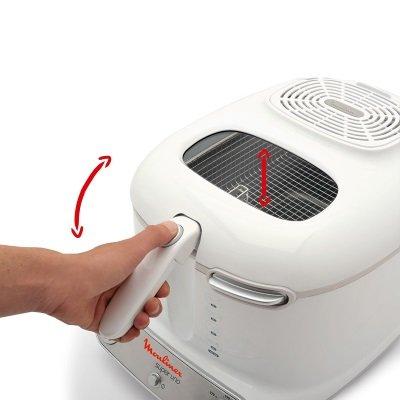 friggitrice Moulinex AM3021 Super Uno con maniglia per scolare l'olio e coperchio con oblò di controllo IMG 5