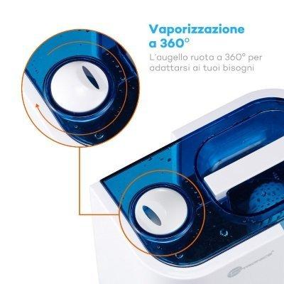 Vaporizzazione a 360° con umidificatore Taotronics IMG 5