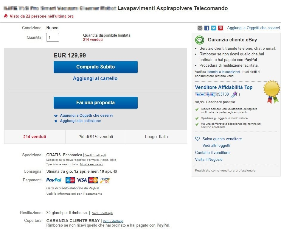 ebay acquisti sicuri