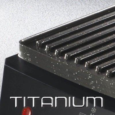 bistecchiera imetec professional serie GL 3000 piastre antiaderenti con rivestimento in titanio IMG 3
