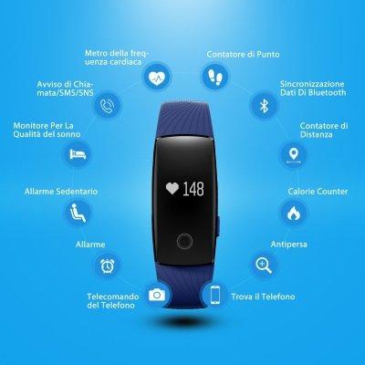 fitwatch mpow bracciale sport fitness tracker funzioni