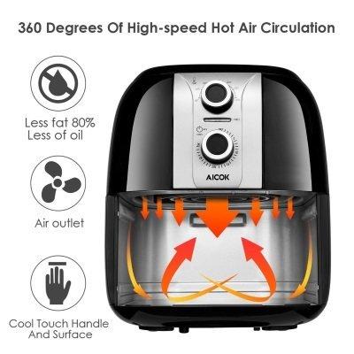 friggitrice ad aria calda aicok AHF001 funzionamento IMG 2