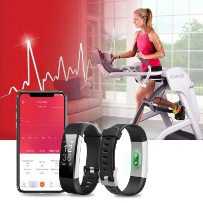 Fitwatch Fitness Tracker orologio Fitness Activity iPosible 2