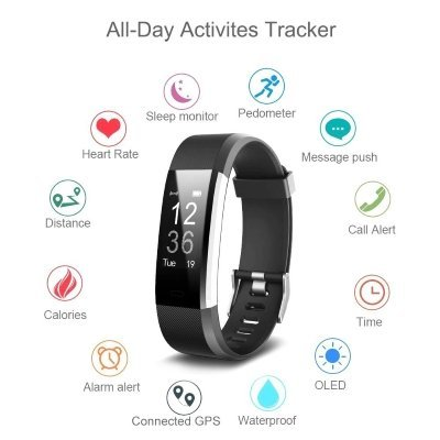 Fitwatch Fitness Tracker orologio Fitness Activity iPosible 3