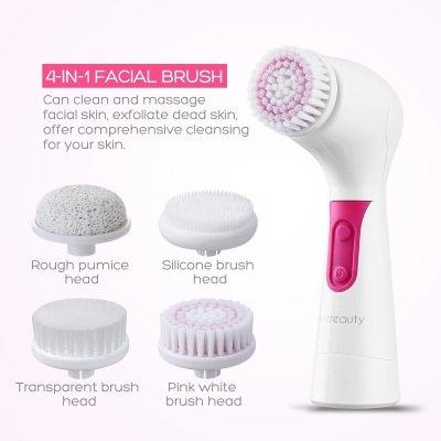 spazzola pulizia viso e corpo etereauty 4 in uno spazzole in dotazione