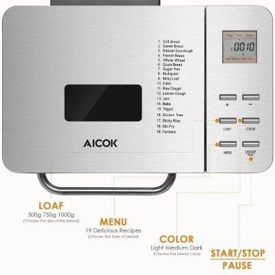 macchina per il pane aicok MBF-013 funzioni IMG 5