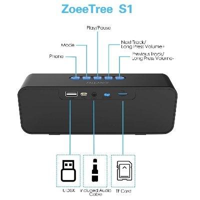 Speaker bluetooth ZoeeTree S1 ZJB01000 caratteristiche2 IMG 2