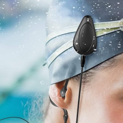 Aerb 4GB Auricolari lettore Mp3 impermeabile cuffie waterproof IPX8 piscina IMG 5
