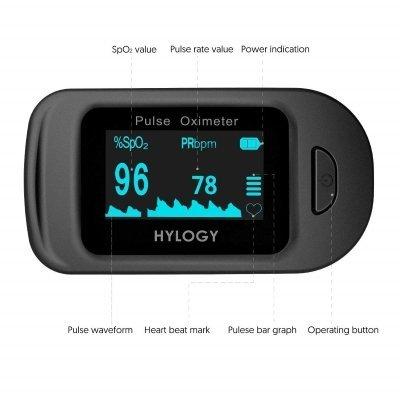 Saturimetro pulsossimetro da dito Hylogy schermo IMG 5