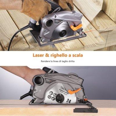 Sega circolare Tacklife 1500 W laser righello IMG 3