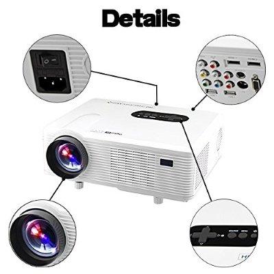 Videoproiettore Excelvan 3000 Lumens HD LED dettagli IMG 4