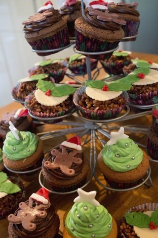 cupcake natalizi abeti