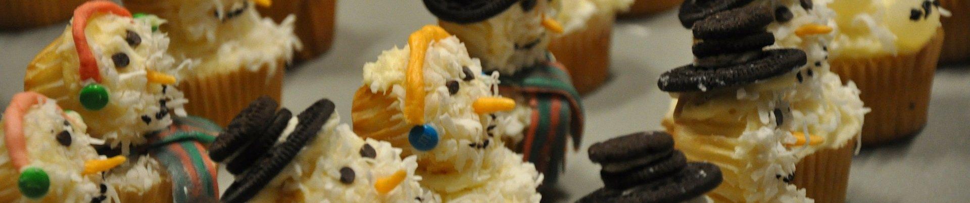 cupcake natalizi pupazzi di neve