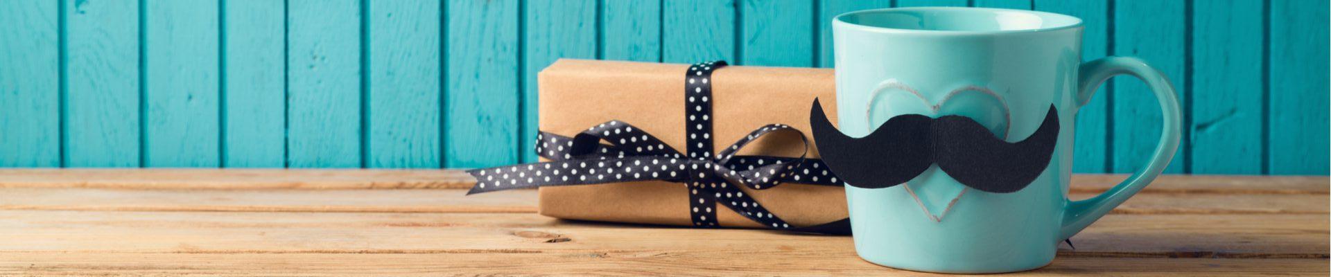 pacchetto regalo papà tazza baffi