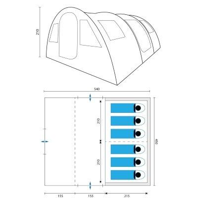 Tenda Campeggio Skandika Gotland 6 dimensioni IMG 2