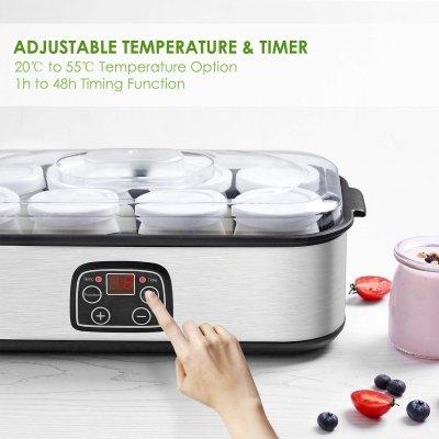 Yogurtiera elettrica Aicok tasto IMG 2