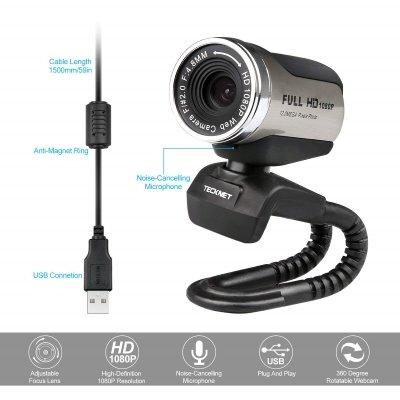 Webcam TeckNet C018 caratteristiche cavo