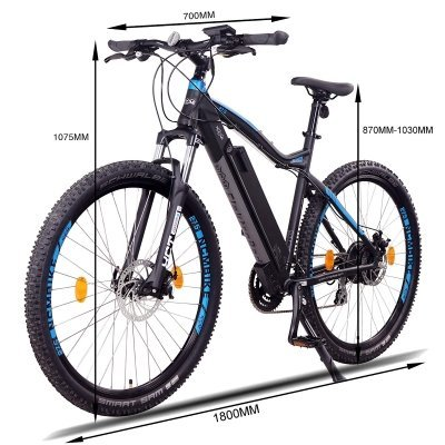 bicicletta-elettrica-NCM-Moscow-dimensioni IMG 2