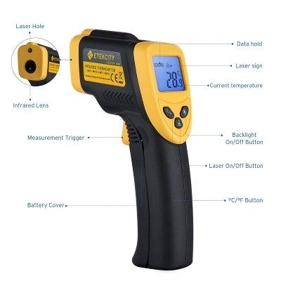 Termometro infrarossi etekciy funzioni