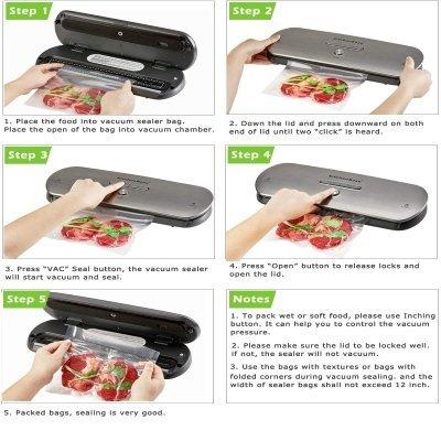 Macchina sottovuoto KitchenBoss istruzioni IMG 4