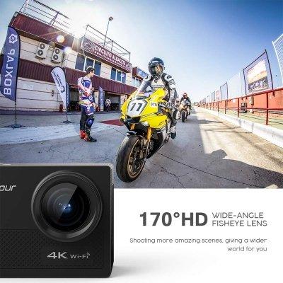 Action Cam Crosstour 4K 16 MP strumenti IMG 4