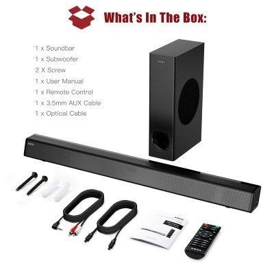 Soundbar con Subwoofer ABOX. accessorijpg IMG 2