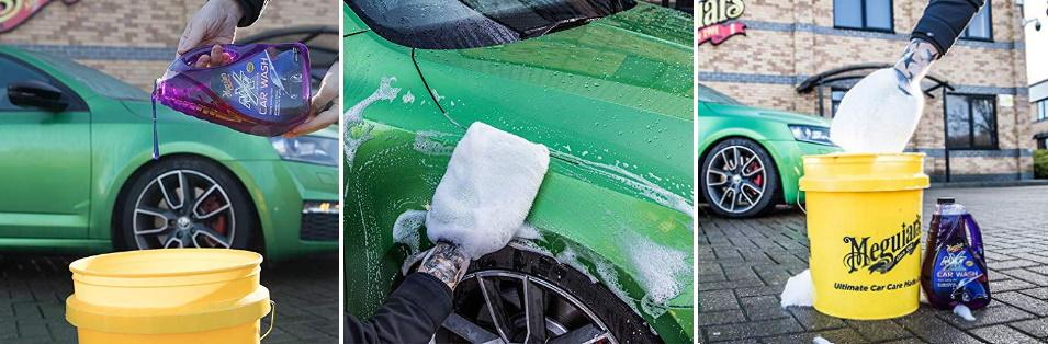 come lavare l'auto con shampoo