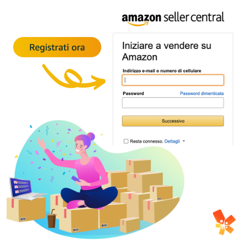 creare account per vendere Amazon